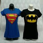 BATMAN or  SUPERMAN  TEE WOMEN'S JUNIOR T-SHIRT