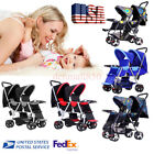 baby strollers double - Baby Jogger Folding Lux Twin Tandem Double Stroller Second Seat Buggy Pushchairs