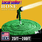 US 25 50 75 100 200 Feet Expanding Flexible Garden Water Hose Spray Nozzle dis