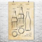 Classic Cola Soda Bottle Poster Print Bottler Gift Soda Shop Coke Bottle $36.87  on eBay