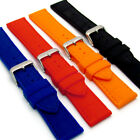 Croc Pattern Silicone Watch Band Stainless Steel Buckle 18mm - 24mm C033