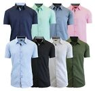 men white dress shirts - Mens Short Sleeve Dress Shirts Button Down Slim Fit Casual Solid Colors NWT