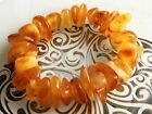 Antique Amber Natural Old Butterscotch Egg Yolk Baltic Amber Bracelet 24 gr
