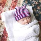 Lacy Bella Baby Newborn Soft Red White and Blue Striped Hospital Hat Beanie