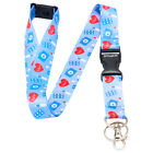 Multicolour NURSE / DOCTOR Lanyard Neck Strap With Card/Badge Holder or KeyRing