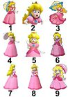 Princess Peach Large Sticky White Paper Stickers Labels NEW