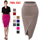 [FINAL SALE]Thanth Womens Elastic Waist Band Stretchy Wrap Style Skirt
