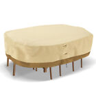Large Patio Garden Rectangular Oval Table Chair Cover Outdoor Furniture Winter