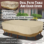 Large Patio Garden Rectangular Round Table Chair Cover Outdoor Furniture Winter