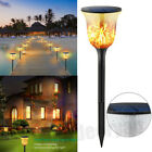 Waterproof LED Solar Power Path Torch Lights Dancing Flame Lighting Garden Lamp
