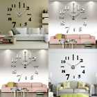 Large 3D Frameless Wall Clock Stickers DIY Wall Decoration Living Room Bedroom