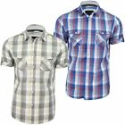 Mens Shirt by Bench 'Malaxer D' Large Check Short Sleeved