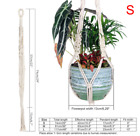 Macrame Plant Hanger Hook Pot Holder Handmade Cotton Cord Plant Hanging Basket