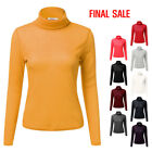 [FINAL SALE]NINEXIS Women's Basic Long Sleeve Pullover Ribbed Turtleneck Sweater