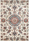 NEW (#405) MODERN SOUTHERN CREAM-FLORAL AREA RUG; APRX SIZES 2X3, 2X7, 4X5 & 5X7