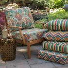 Red Orange Blue Fiesta Collection Outdoor Patio Chair Deep Seat Cushion Set