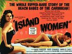 Island Women 1958 Drama Film Beach Babes Of The Caribbean Vintage Poster Print