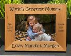 Personalized Engraved // World's Greatest Mommy // Picture Frame // Mom / Mother