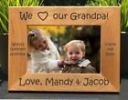 Personalized Engraved // I Love my Grandpa // Picture Frame