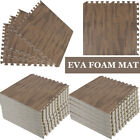 Deep Wood Rubber Gym Floor Mat Foam Exercise Workout Fitness Equipment EVA Sale! image