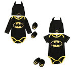 Clothing Shoes - Newborn Baby Boy Batman Romper Bodysuit+Shoes+Hat Clothes 3Pcs Outfits Set 0-24M