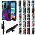 For LG G Stylo LS770/ G Vista 2nd 2015 Holster Hybrid Rubber Silicone Case Cover