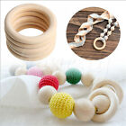 Внешний вид - 10PCS 15~70mm Blank Wood Rings Unfinished Wooden Rings DIY Maple Teething Ring