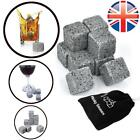 *UK Seller* 9~36X Scotch Whiskey Stones Cooler Granite Rocks Ice Cubes W/ Pouch