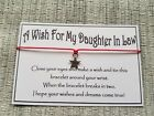 Daughter In Law Wish * Wish Bracelet * Friendship * Gift * Favour *