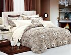 brown duvet sets king - Brown Floral 3pc Bedding Set:1 Duvet Cover and 2 Pillow Shams Queen/King/Cal K