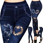 Women Leggings New Skinny High Waist Jeans Trousers Denim Stretchy Pencil Pants