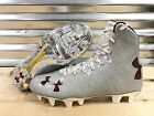 Внешний вид - Under Armour Highlight MC Lacrosse LAX Cleats Metallic Silver Red SZ ( 1294746 )