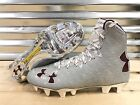 Under Armour Highlight MC Lacrosse LAX Cleats Metallic Silver Red SZ ( 1294746 )