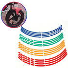 Внешний вид - 16Pcs Motorcycle Car Carbon Fiber Sticker Reflective Wheel Hub Tire Rims Sticker