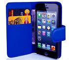 FLIP WALLET PU LEATHER CASE STAND COVER FOR iPHONE 4S