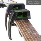 Multifunctional Aluminum Alloy 2-in-1 Guitar Capo Tuner with LCD Screen Musician