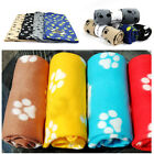 1pcs Pet Dog Cat Nice Soft Warm Fleece Paw Print Puppy & Kitten Blankets Beds