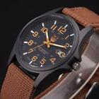 Fashion Date Mens Watch Stainless Steel Military Army Sports Analog Quartz Wrist image