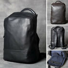 "Real Leather Business Backpack Rucksack 13"" Laptop bag School bag Daypack Small"