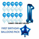 1st Birthday Number Foil Balloon Baby Shower Decorations Bal