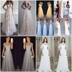 New Lace Evening Party Ball Prom Gown Wedding Bridesmaid Long Maxi Dress UK