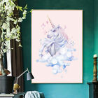 Newfangled Watercolor Unicorn Canvas Art Poster Prints Picture Kid Living Room Decor