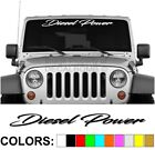 Diesel Power - Script - Windshield Decal Sticker Turbo Car Truck Diesel Race Mud