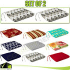 Set of 2 Patio Chair Universal Cushions Pad Seat Ties Outdoor Garden Dining Yard