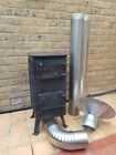 Solid wood burner, woodburning stove, multifuel fireplace, workshop heater