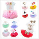 Baby Girls First 1st Birthday Dress Outfits Sets Tutu Party