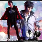 street punk cosplay Assassin's sports layered look thermal track jacket【J1E533】
