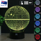 3D Star Wars Death Star LED Night Light USB Touch Table Desk Lamp 7 Colour Gifts $22.99 AUD
