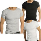 Raiken Ribbed Crew Neck ( Pack of 3 ) T-Shirts  Mens Size