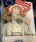 """Vintage Cabbage Patch Betsy Ross 16"""" Tall Doll with Flag, Box, & COA"""